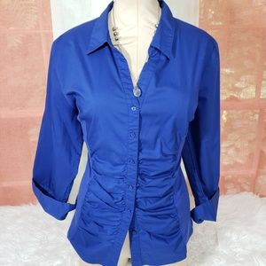 NY Collection Tops - Working Women's Blue Button Up Bundle